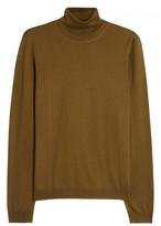 Pal Zileri Mustard Wool And Silk Blend Jumper