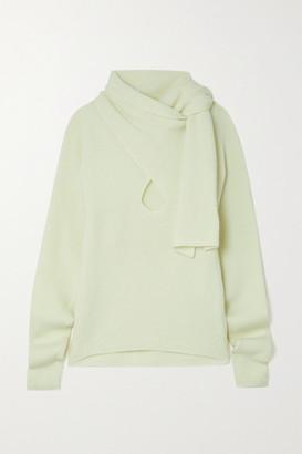 Petar Petrov Kumi Tie-neck Cutout Ribbed Cashmere Sweater - Ivory