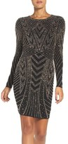 Xscape Evenings Beaded Jersey Body-Con Dress