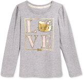Hello Kitty Long-Sleeve Graphic-Print T-Shirt, Toddler Girls (2T-5T) & Little Girls (2-6X)