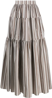 Brunello Cucinelli Maxi Peasant Skirt
