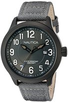 Nautica Men's 'NCC 01 DATE' Quartz Stainless Steel and Nylon Casual Watch, Color:Blue (Model: NAD11514G)