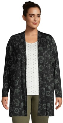 Lands' End Plus Size Lightweight Long Cardigan Sweater
