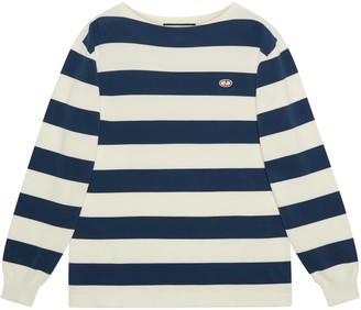 Gucci Striped knit cotton sweater withGG