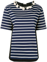 Moncler striped short sleeve T-shirt - women - Cotton - XS