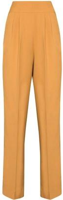 USISI SISTER High-Waisted Slim-Leg Trousers