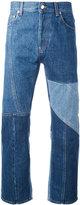 Alexander McQueen patchwork jeans - men - Cotton - 46