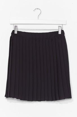 Nasty Gal Womens Pleat Don't Go High-Waisted Mini Skirt - Black