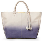 Botkier Quincy Tasseled Whip-Stitched Ombre Tote
