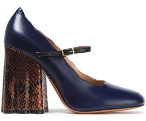 Marni Snake-effect And Smooth-leather Mary Jane Pumps