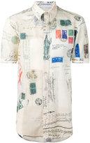 Alexander McQueen letter print shirt - men - Silk/Cotton - 16