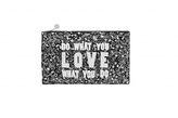 Forest of Chintz Black & White 'Wise Words' Bag