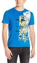 Buffalo David Bitton Men's Nafanley Short Sleeve Fine Living Graphic T-Shirt