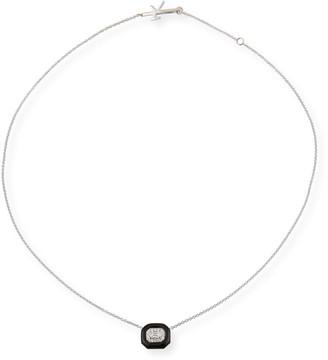 Nikos Koulis 18k White Gold Oui Emerald-Cut Diamond Pendant