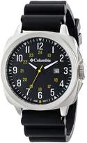 Columbia Men's Cornerstone SI Black/Black Silicone Watch
