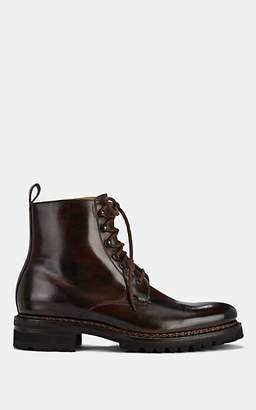 Harris Men's Leather Lace-Up Boots - Dk. brown