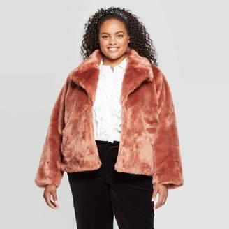 A New Day Women's Plus Size Long Sleeve Faux Fur Jacket