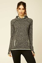 Forever 21 FOREVER 21+ Active Marled Knit Hoodie