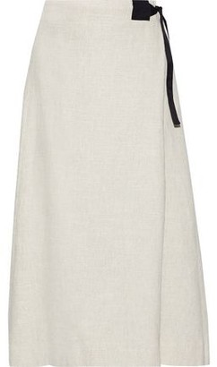 Rosetta Getty Wrap-effect Tweed Midi Skirt