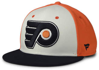 Authentic Nhl Headwear Philadelphia Flyers Tri-Color Throwback Snapback Cap