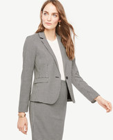 Ann Taylor Petite Houndstooth One Button Blazer