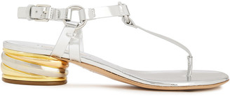 Casadei Mirrored-leather Sandals