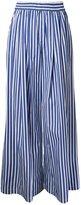 Miharayasuhiro wide-legged striped trousers