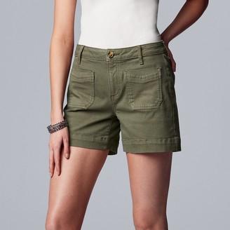 Women's Simply Vera Vera Wang Front Pocket Jean Shorts