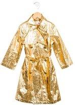 Lanvin Petite Girls' Metallic Trench Coat