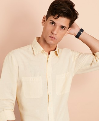 Brooks Brothers Linen-Cotton Chambray Sport Shirt