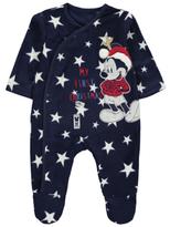Disney George Mickey Mouse My First Christmas Fleece Sleepsuit