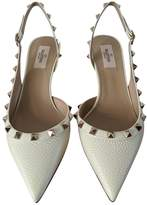 Valentino Garavani Rockstud White Leather Heels