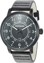 Skechers Men's 'Dress Strap' Quartz Metal and Leather Casual Watch, Color: (Model: SR5090)