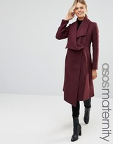 Asos Trapeze Waterfall Coat
