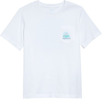 Vineyard Vines Painted Lighthouse Pocket Graphic Tee