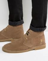 Farah Lozza Suede Desert Boots