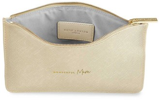 Perfect Pouch Wonderful Mum Metallic Gold 16 X 24cm