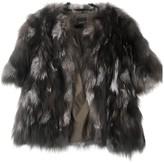 Barneys New York Black Raccoon Coat for Women