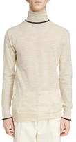 Lanvin Men's Contrast Tipped Wool Turtleneck