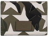 Valentino Green/black/white Camustars Card Holder