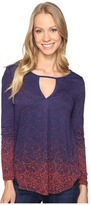 Lucky Brand Printed Top Women's Clothing