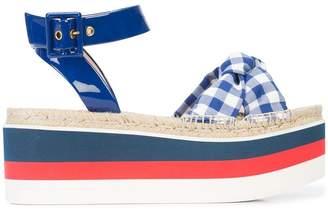 Gucci Gingham Flatform Sandals
