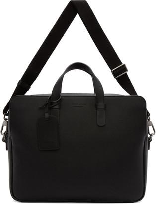 Giorgio Armani Black Large Two Day Briefcase