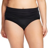 Ava & Viv Women's Plus Size Ultra High Waist Swim Bottoms Black