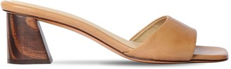 Mari Giudicelli 60mm Leather Slide Sandals