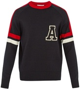 Ami Tri-colour Wool-blend Sweater