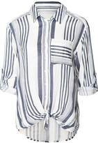 Dex Stripe Button-Down Top