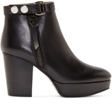 Acne Studios Black Leather Orbit Boots