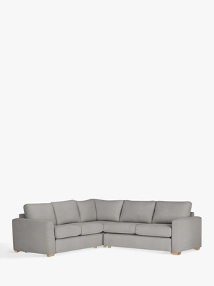 House by John Lewis Oliver Corner Sofa, Light Leg, Aquaclean Matilda Steel