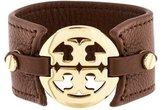 Tory Burch Leather Logo Cuff Bracelet